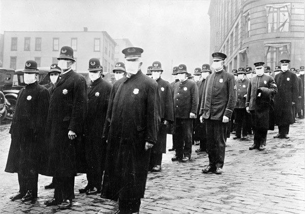 Seattle police during Spanish Influenza epidemic