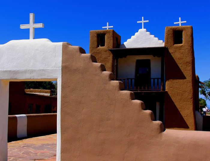 San Geronimo church 1850, Taos, New Mexico, Photography by Karol M