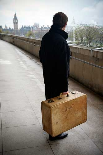 Man with suitcase