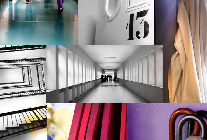 Collage of hospital images