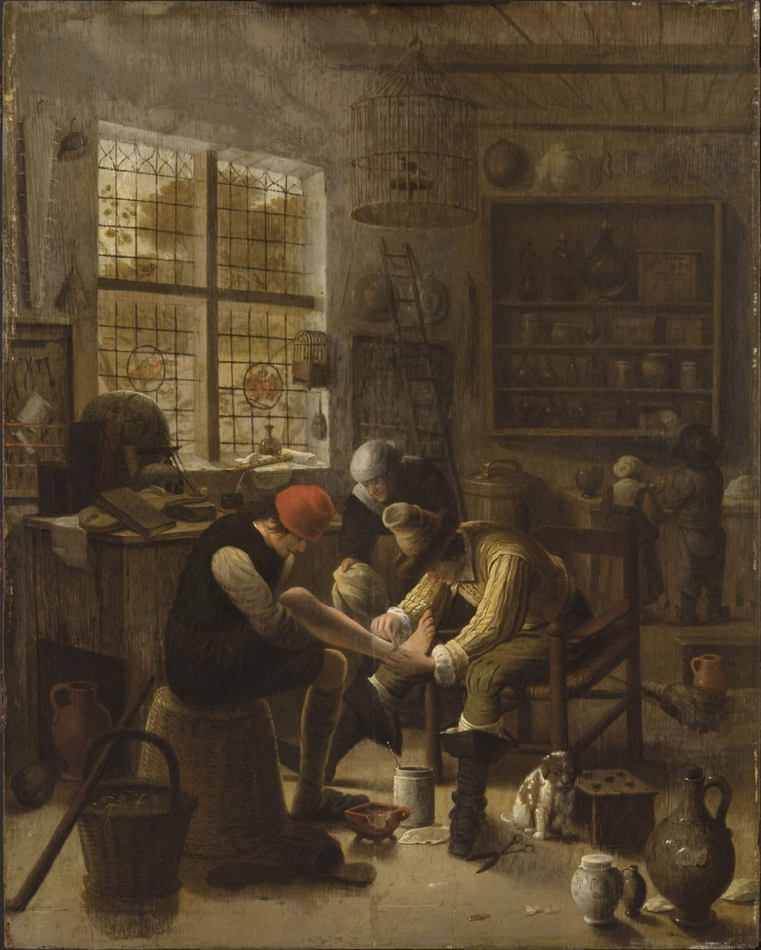 Painting of a village surgeon's office